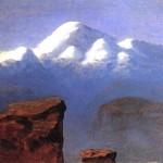 Вершина Ельбрусу, освітлена сонцем