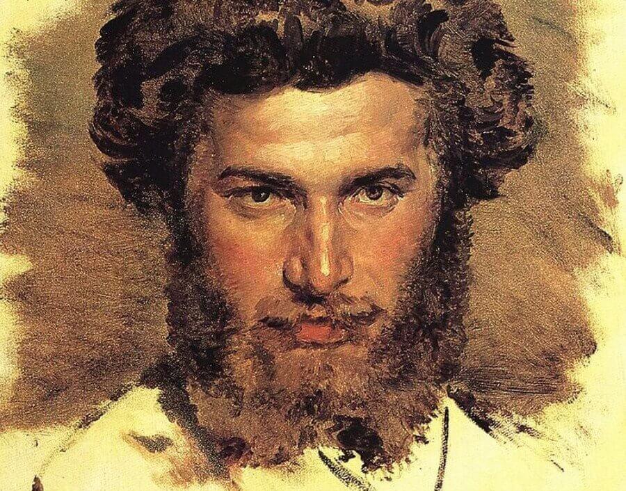 Портрет А. Куїнджі. Картина Васнецова 1869р