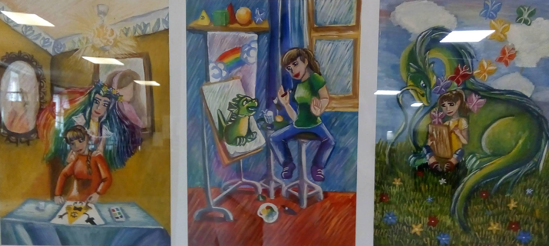 """Ілюстрація """"Творчість"""", Машнєнкова Вікторія, 15 р."""
