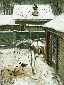 Дворик. Зима. 1870. ГТГ