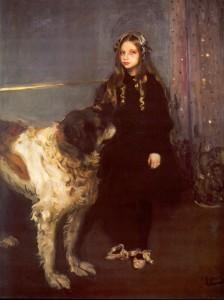 Мурашко Дівчинка з собакою. Портрет Т.В.Язевої.1903-04