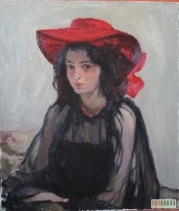 мурашко Дівчина в червоному капелюсі1902-03