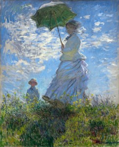 Дама с зонтиком.1886