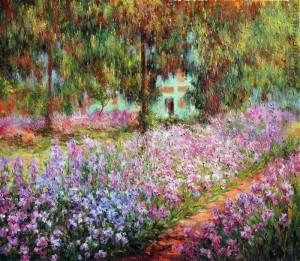 Ирисы в саду Моне 1900