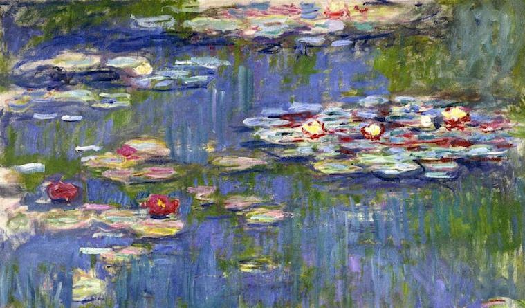 Красные водяные лилии 1914