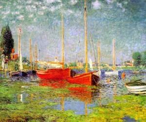 Лодки на Сене в Аржентее 1875