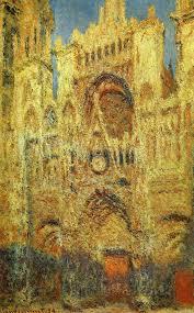 Руанский собор в ярком солн. свете
