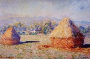 Стога, освещенные солнцем 1890