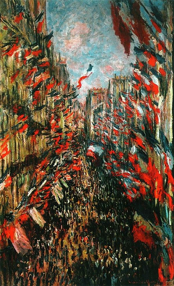 Улица Сен-Дени. Праздник (Флаги)