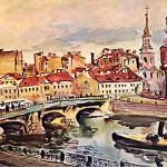 Ленинград. Мост Белинского. Церковь Симеона и Анны